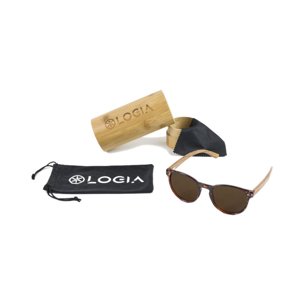 Gafas de sol Logia Lifestyle - Leopard dark con funda