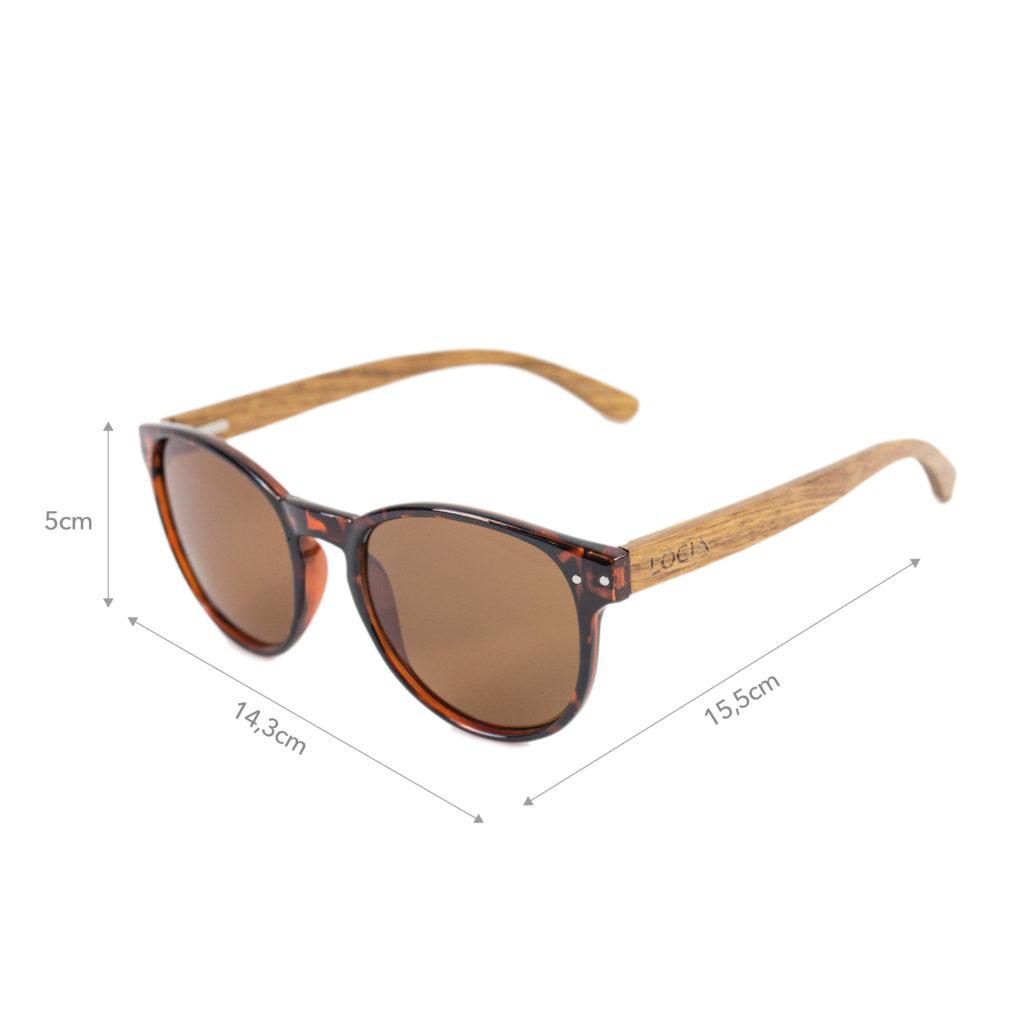 Gafas de sol Logia Lifestyle - Leopard dark sizechart